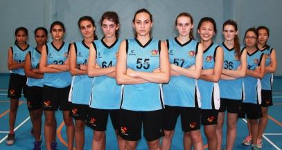 GIS U18 Girls SEASAC Basketball Squad 2015