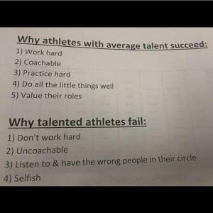 WHy Athletes succeed